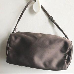Cute PRADA satin mini zip bag purse authentic